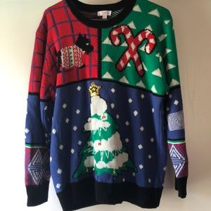 LulaRoe Ugly Christmas Sweater Holiday Sz L Bells